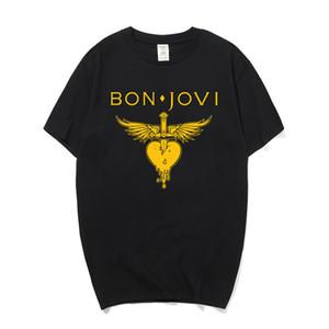 Summer Fashion Bon Jovi Magliette Uomo manica corta cotone Rock Band T-shirt O Collo Pop Metal uomo T-Shirt Top Camiseta Os-157 Y19050701