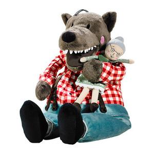 Freies Verschiffen 45cm Lufsig neuer Plüsch Großmutter Wolf Spielzeug gefüllte Wolf und Oma Puppe Geschenk CX200611
