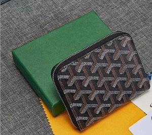 Goyarrd2020 년에 높은 품질의 고전 Goyar 단 지갑 가죽 최고 품질의 파리 스타일의 남성의 짧은 여성 지퍼 지갑 GY Mini 지갑 상자