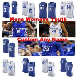 Kentucky Wildcats Jerseys Mens Quickley Immanuel Jersey Montgomery EJ Hagans Ashton Ben Maxey Tyrese NCCA Basketball Jerseys Custom Stitched