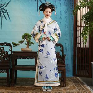 Dynastie Qing Reine Costume impératrice robe traditionnelle chinoise femmes Clothings TV Film usure de la performance scénique Princesse
