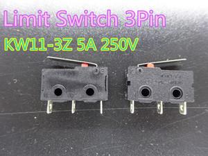 20pcs / lot Nuevo conmutador de límite 3 pines N / Switch O N / C 5A 250V AC KW11-3Z Micro Roller pieza de la impresora 3D de la palanca de tope de extremo en el envío libre