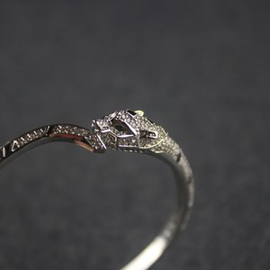 AU750 Silber Panther Diamant-Armband-Frauen Exquisite Schmucksachen handgemachtes Leopard-Armband