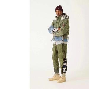 18fw Tendência Trackpants Calças rasgadas Patchwork clássico Casual Rua Sweatpants Homens Mulheres Moda Calças Outdoor Sport calças HFTTKZ026
