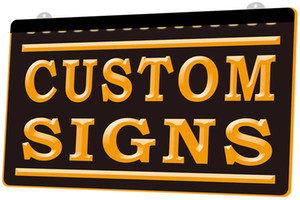 Símbolo LS0002 Custom Signs Placa Nueva 3D de luz LED de grabado Personalizar bajo demanda color múltiple