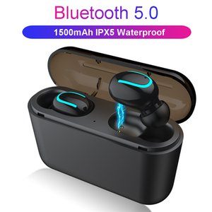Mini Twins Wireless Bluetooth 5.0 Stereo Headset Waterproof Sport Headphone In-Ear Earphones Earbuds TWS With Charging Socket for Smartphone
