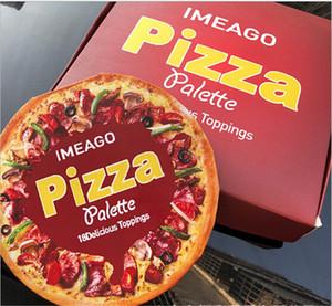 Новейший дизайн PIZZA IMEAGO 18 цветов Палитра теней для век 18 Восхитительные начинки Матовое мерцание Содержащие кисти бронзаторы Палитра Blush