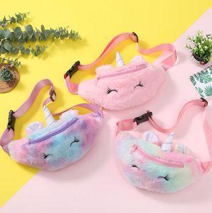 3 стилей Unicorn Plush талия сумка милый мультфильм дети Фанни пакет девушки ремень кошелек мода путешествия телефон сумка из кармана