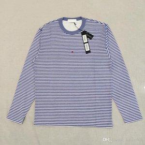 19SS T0PST0NEY 244X9 с длинным рукавом Марина полосатая футболка Письмо 3 м светоотражающая мода футболка Tee повседневная Мужчины Женщины HFLSTX506