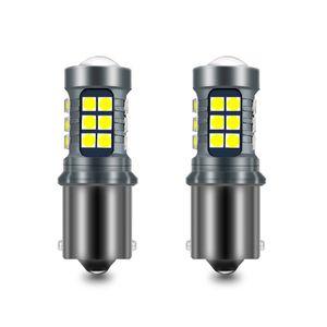 2PCS P21W BA15S BAY15D W21W WY21W T15 W16W LED Canbus delle lampadine 3030 LED 21SMD lampada DRL inversione bianca diventa color ambra luce di segnale