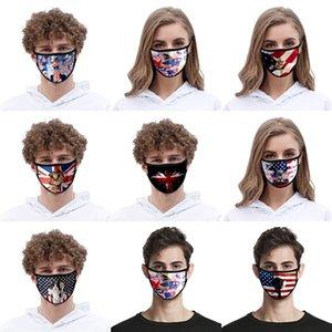 Vereinigte Staaten Flagge Designer Gesicht 2020 Maske Usa Präsident Wahl Drucken Sonnenschutz Staub Trump Mundmasken mit Filter # AQ165