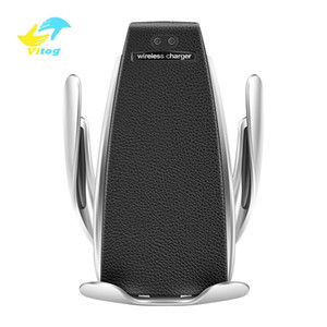 Vitog sensore automatico senza fili Caricabatteria da auto per Samsung S10 S9 note10 intelligente infrarossi Wirless di ricarica rapida pad Car Holder Phone
