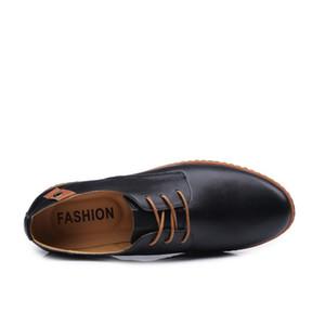 موضة 2019 العلامة التجارية جلدية أحذية رجالية رسمية اللباس ربط الحذاء حتى الأحذية أوكسفورد الأزياء ريترو أحذية الأعمال الأحذية قطرة شحن