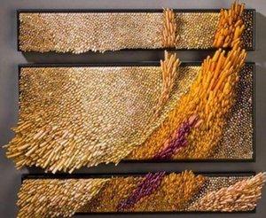2019 Comercio al por mayor hecho a mano soplado en el cristal del viento Diseño de pared de vidrio placas Decoración del vidrio del arte de la pared decorativos