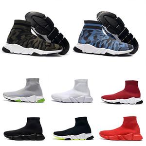 Balenciaga Sock shoes Luxury Brand 2019 Wool New Air velocidade malha instrutor sapatilhas clássicas grife das mulheres dos homens Top Fashion planas Sock Shoes Bota