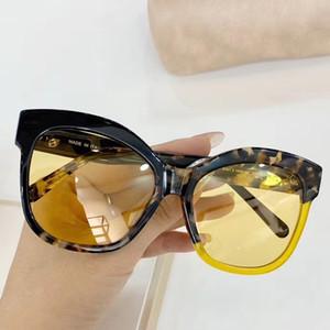 Fashion Black Havana Sonnenbrille 9081 Gelbe Linsen 56mm gafas de sol-Frauen-Sonnenbrille Sonnenbrille Neu mit Box