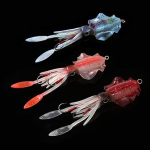 15cm 60G UV Glow Glow Fishing Soft Squid Lure Polopus Calamar Pesca Mar Sea Mare Pesca Wobbler Bait Squid Jigs Esche Pesca esche in silicone LURE