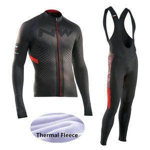 2018 Inverno térmica velo NW Ciclismo Jersey Ropa Ciclismo Mtb manga comprida Bike Wear Vestuário Maillot Biciclet