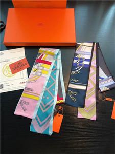 Sciarpa da donna calda Borsa Sciarpa Moda Classica 100% vera seta Sciarpe moda fascia per capelli alta qualità Testa Sciarpa Trasporto di goccia