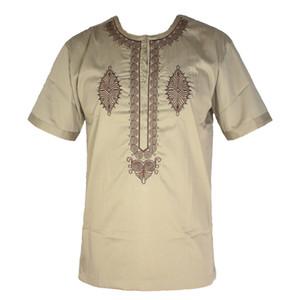 Nuovo vestiti da matrimonio Africa Abbigliamento Bazin ricamo Mens Dashiki Tops africano Kaftan tunica Abbigliamento