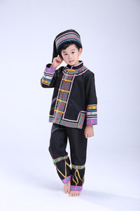 Boy Miao Costumes Hmong Clothes Traditional Chinese Dance Costume Chinese Folk Dance Costume for Boy
