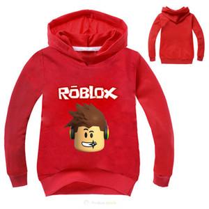 만화 Roblox 후드 티 셔츠 티셔츠 아이 소년 소녀 셔츠 아동 의류 후드 티 긴 소매 티셔츠 캐주얼 트랙볼 Y190516
