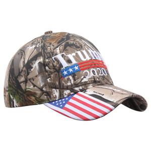 Gorra de béisbol de camuflaje Trump de presidente estadounidense presidencial de alta calidad caliente trump2020 gorra de béisbol con estampado de bordado WCW507
