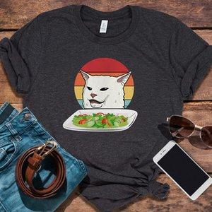 Kedi Meme Kadın Yelling At Tablo Akşam Grafik Hoodie Kadın Aşk Pembe Çirkin Noel Vintage Tişörtü Streetwear Karikatür