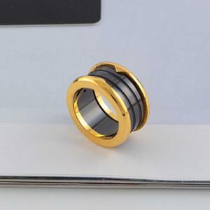 BVL Marke heißen Verkauf der neue Jahr großer heißen Verkauf Liebhaber Ring für Mann Frauen Fabrikpreis Keramik Ring heiße Verkaufsschmucksachen 18K Gold Abdeckblech