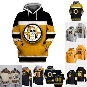 Boston Bruins Hoodie Jersey para hombre 33 Zdeno Chara 14 Chris Wagner 40 Tuukka Rask 63 Brad Marchand 88 camisetas de hockey David Pastrnak