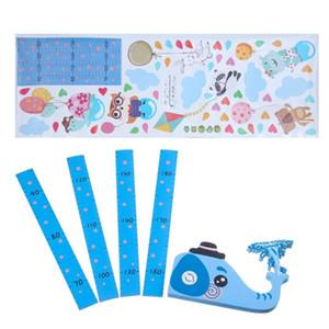 Niños Niño Bebé Carta de crecimiento de medida Wall Sticker Decal elefante jirafa de dibujos animados pegatinas de pared bricolaje Home Decor