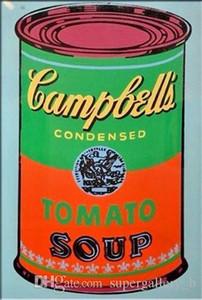 ANDY WARHOL Campbells Tomatensuppe kann handgemaltes HD-Druck-Pop-Art-Ölgemälde Wandkunstausgangsdekor auf hochwertigem Segeltuch g209