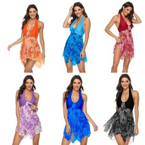 Designer scollo a V swimsuit di un pezzo delle donne swimwear sexy floreale Costumi signore Backless