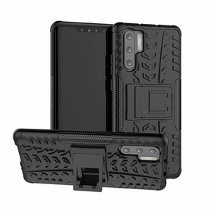 A prueba de golpes de doble capa delgada de protección con cubierta de caja de pata de cabra duro de teléfono para Huawei P30 / P30 HUAWEI PRO / HUAWEI P30 LITE NOVA 4E