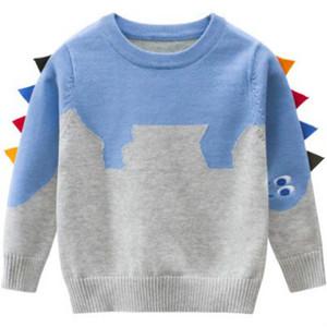 Crianças Designer Camisolas crianças capuz Vestuário Meninos dinossauro camisola Meninas Tops Casual manter quente roupa dos meninos Sweater alta Quantily