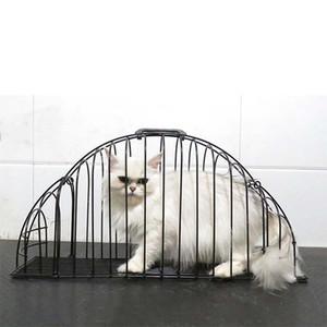 Gaiola de estimação gaiola anti-grab gaiola para animais de estimação 2 porta de banho casa de banho de chuveiro leve casa de segurança secador de cabelo pet suprimentos