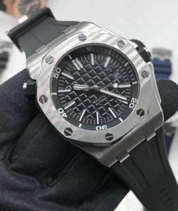High quality men's watch luminous sapphire mirror mechanical automatic waterproof water meter rubber strap