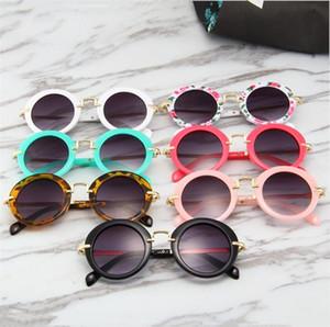 Garçons filles lunettes de soleil style vintage enfants cadre rond Uv 400 protection enfants lunettes de soleil bébé soleil ombrage