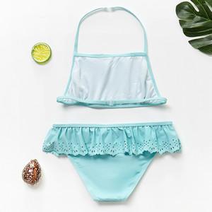 Nouveau 2019 filles Maillots de bain pour enfants Maillot de bain 3 ~ 12ans filles maillot de bain chaud Vente enfants Maillot de Bain Beach Wear Biquini Infantil-ST107 pour enfants S