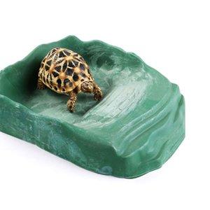 Plato de alimentación del reptil de agua Suministros Reptile Plato