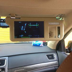 7 polegadas Sun Visor Visor Sun Bloco de exibição Car 2 Car Video Canal Invertendo para o primeiro oficial