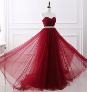 Long Prom Dress with Sashes 2019 아가씨 A 라인 Tulle Sweep Train 정장 이브닝 파티 가운 Special Occasion Dresses Customized