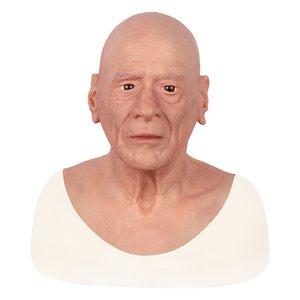 Disguise Self Défiguration Réparation artificielle réaliste visage de la peau humaine Femme Crossdresser transgenre Silicone Halloween Face Mask