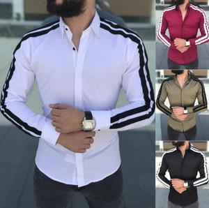 İlkbahar Sonbahar Özellikleri Gömlek Erkekler Rahat Gömlek Yeni Varış Uzun Kollu Lüks Casual Slim Fit Erkek Gömlek