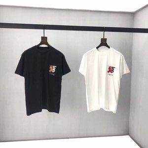Новый 2020 O-образным вырезом Мужские футболки черный белый мода лето мужчины футболки лето хлопок тройники скейтборд хип-хоп уличная футболка top9