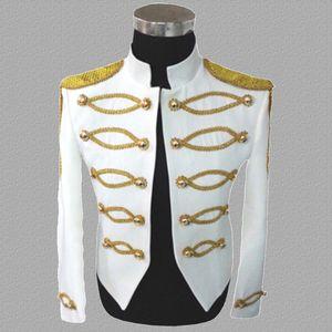 댄스 스타 스타일 드레스 펑크 재킷 남자 의상 의상 재킷 남성 의류 의상을 입은 의상 의상