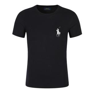 Moda melhor transporte Marca Ralph Camiseta polo Hip Hop Branco Mens Roupa descontraída camisetas para homens com letrasLauren Impresso T-shirt