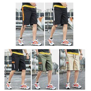 Оснастки шорты американские фондовые мужские подростковые шорты повседневные короткие брюки спорт бег длина до колена лето открытый карманы мода мужчины шорты FY9111