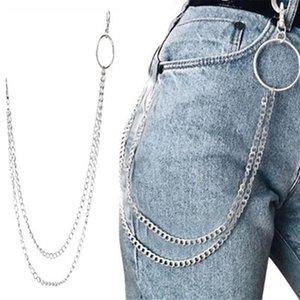 Chains calças compridas Hipster chave Punk Rua Big anel de metal Carteira Cadeia Belt Pant Keychain Unisex HipHop Jóias belo presente