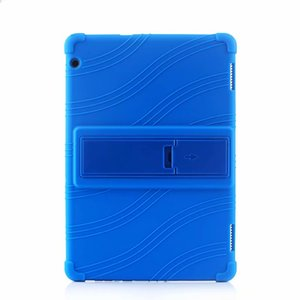 Huawei MediaPad Onur Tablet 5 AGS2-W09HN 10.1 inç Tablet için Yumuşak Silikon TPU Arka Kapak Kılıf Standı